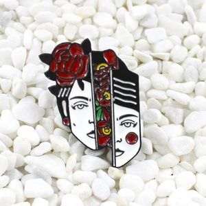 Jewelry - Flower Girl Enamel Pin